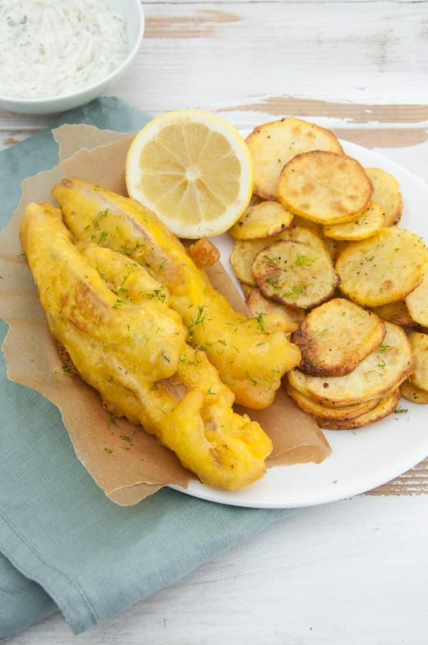 veganes rezept bananenblüte fisch mit pommes frites