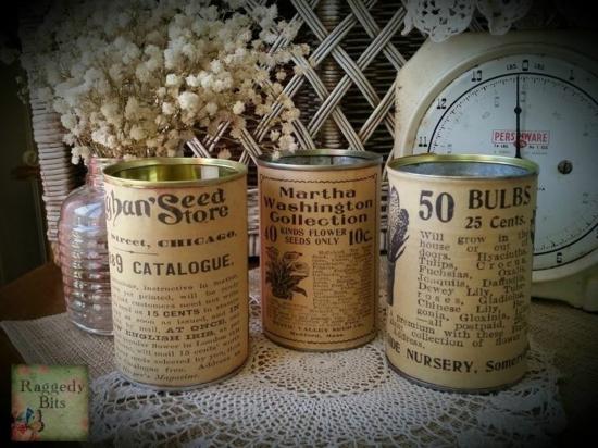 vintage gartendeko ideen dosen vasen