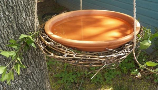 vogeltränke hängend keramikschale