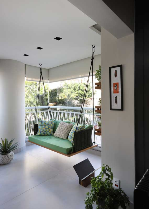 Balkon - Balkon-Sofa - Schaukel