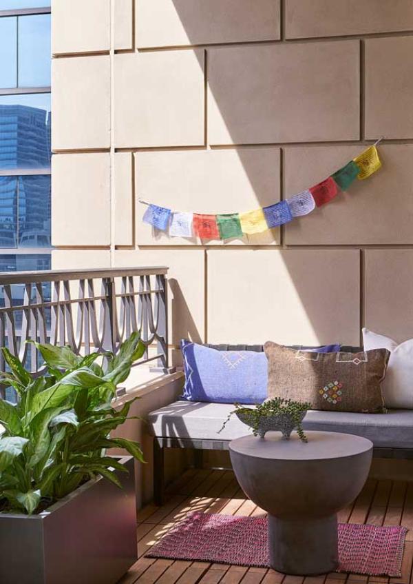 Balkon-Sofa - Balkon - Tisch Ideen
