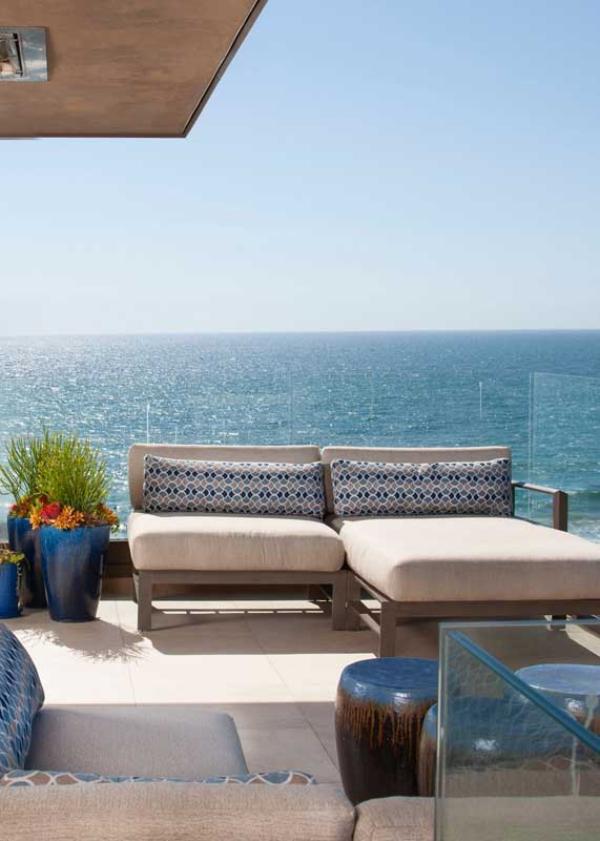 Balkon-Sofa - Meeresaussicht