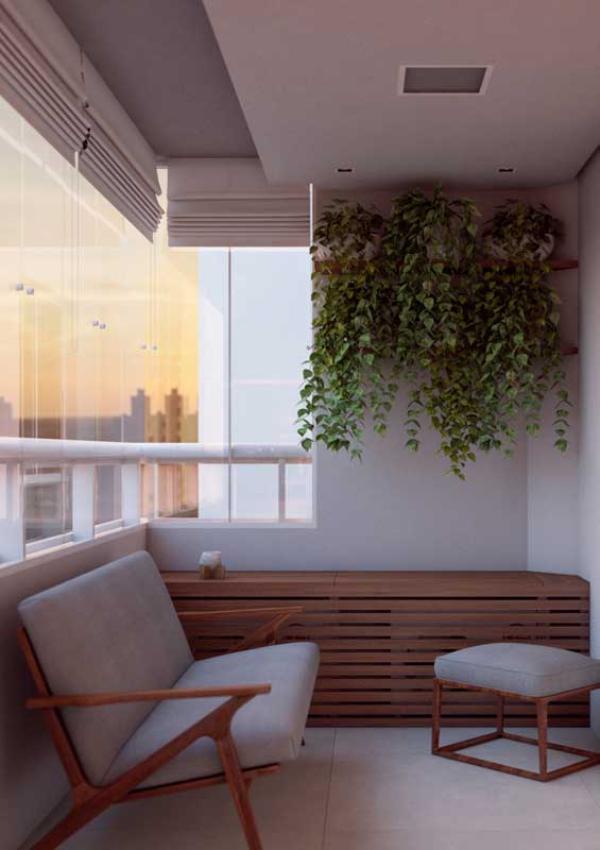 Balkon-Sofa - kleine Möbel - Kombination