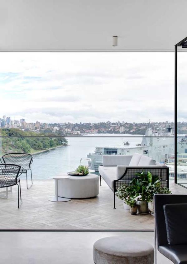 Balkon-Sofa - schöne Aussicht