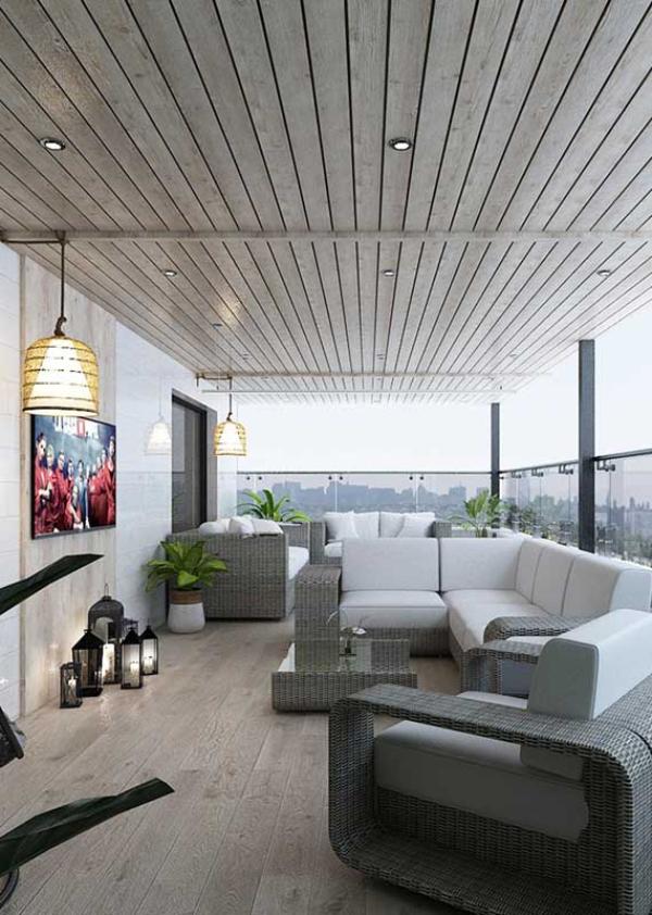 Balkon-Sofa - schöne Balkongestaltung