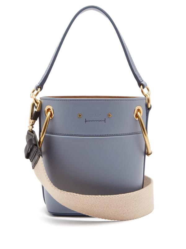 Blaue Tasche - weiße Gürtel - Damentaschen