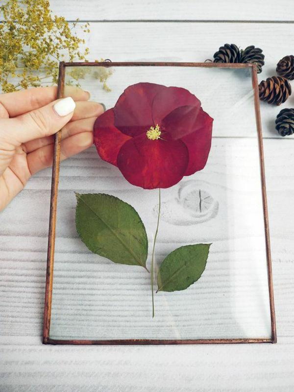 Blumen pressen Wanddeko Geschenkideen