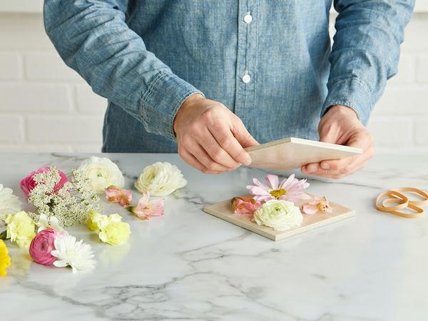 Blumen pressen verschiedene Methoden