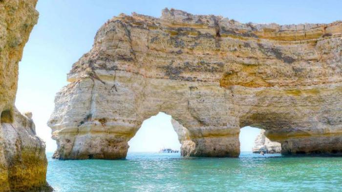 Der schönste Strand in Europa Benagil Cave Beach Portugal