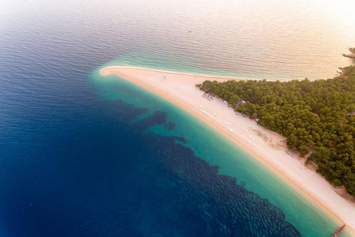 Der schönste Strand in Europa Zlatni Rat Beach Goldenes Horn in Kroatien