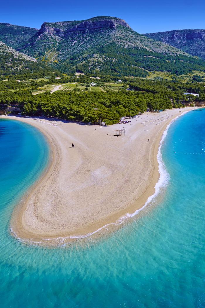 Der schönste Strand in Europa Zlatni Rat Beach in Kroatien ein Naturphänomen