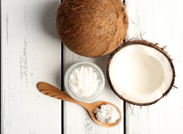 Fett Killer fettverbrennende Lebensmittel Kokosnussöl