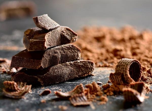 Fett Killer fettverbrennende Lebensmittel dunkle Schokolade
