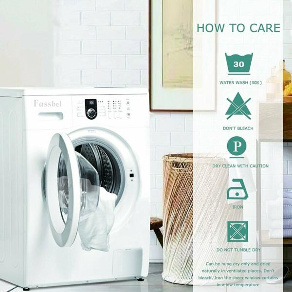 Gardinen waschen PflegeanweisungenTipps und Tricks Waschmaschine Trockner
