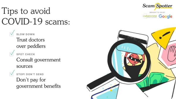 Google startet neue Website Scamspotter, um Online-Betrug zu vermeiden covid 19 coronavirus hoaxes