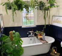 Viel Grün im Bad – Badpflanzen bringen tropisches Flair mit