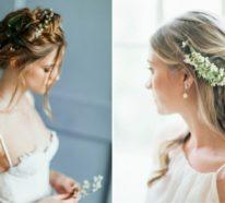 Brautfrisur mit Blumen: 70 Hochzeitsfrisuren mit echten Blumen als Haarschmuck