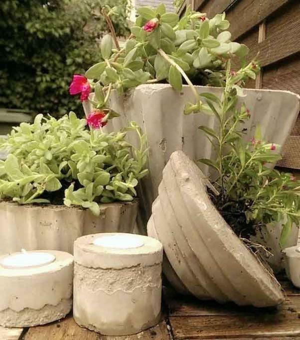 Ideen mit Pflanzern- Pflanzenkübel Beton