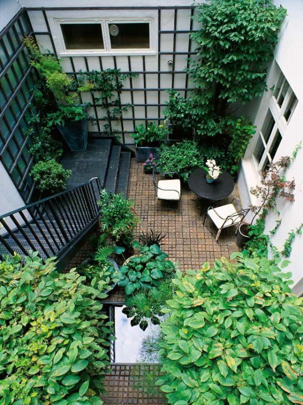 Innenhof Gestalten - tolle Deko - Balkon bepflanzen