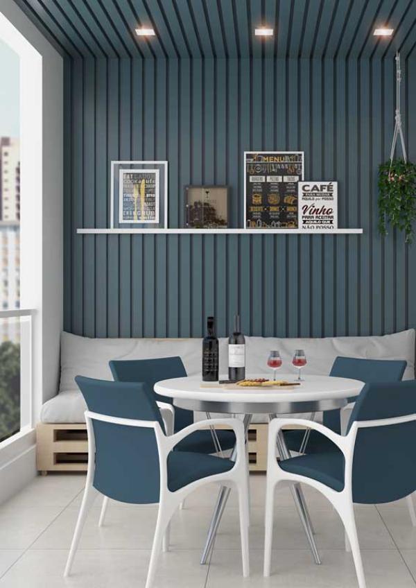 Kleine Möbel - Tisch - Balkon-Sofa