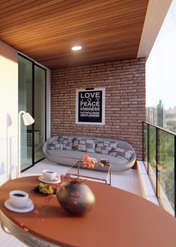 Kleiner Tisch - interessante Möbel - Balkon-Sofa