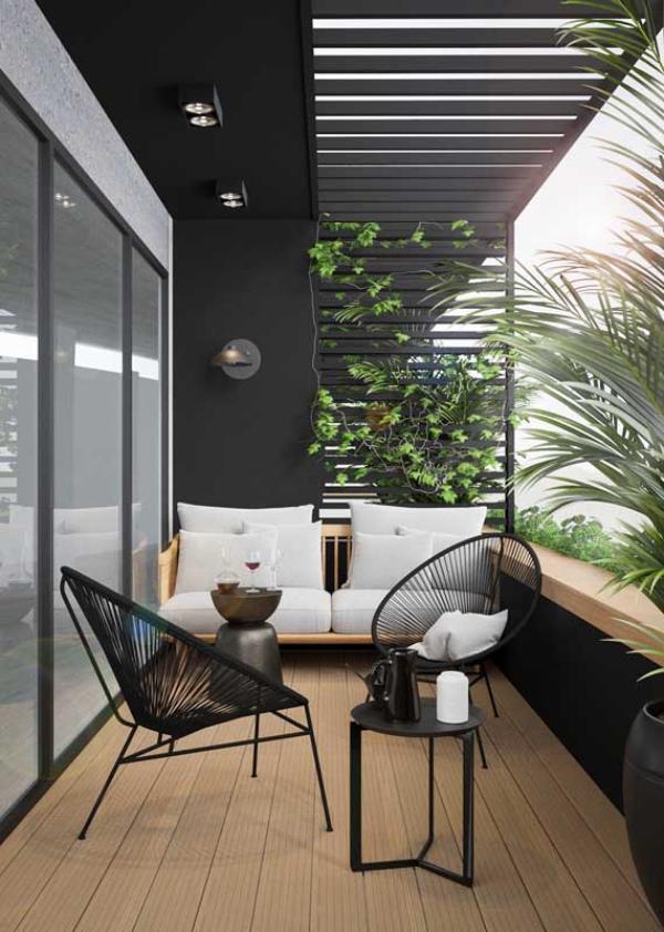 Korbmöbel - tolle Möbeleinrichtung - Balkon-Sofa