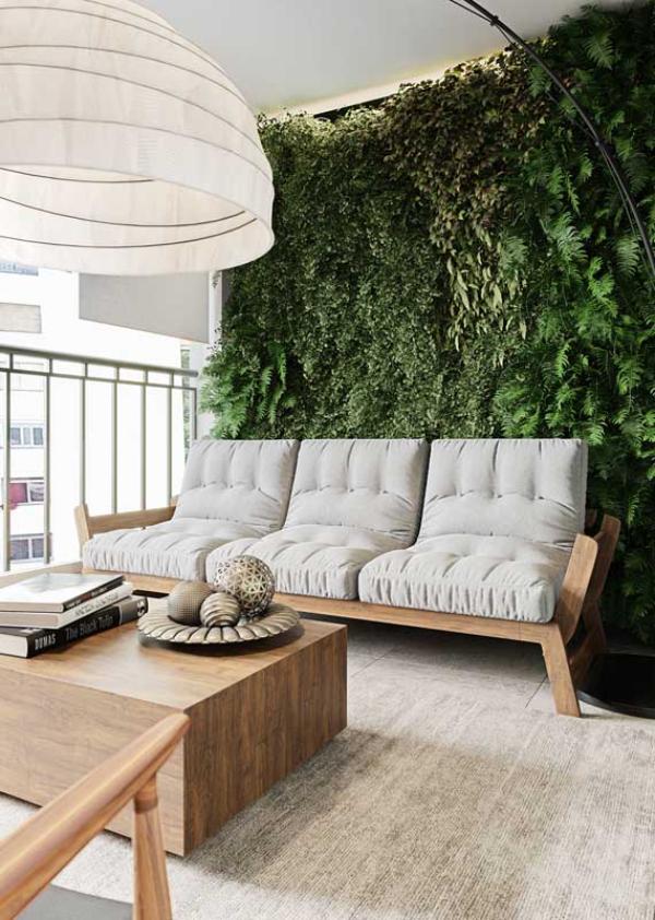 Möbel - kleiner Teppich - Balkon-Sofa