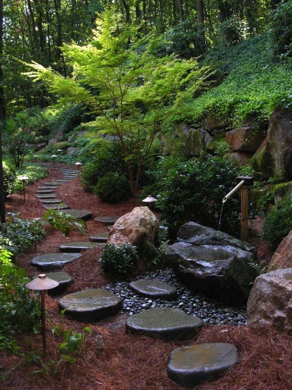 Naturgarten anlegen - Steine und Wasser - tolle Ideen