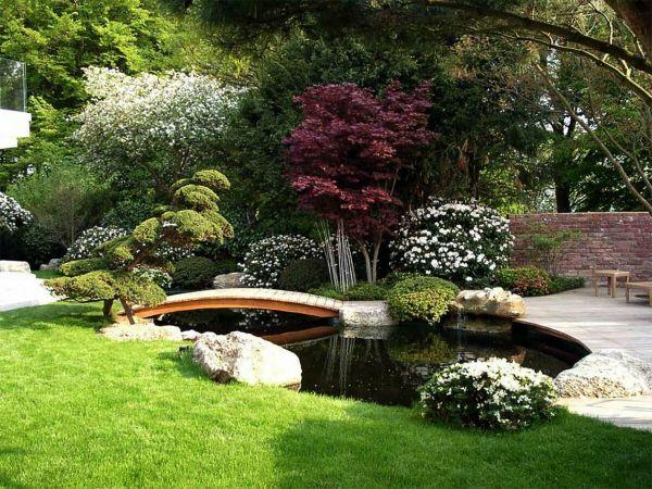 Naturgarten anlegen asiatischer Stil