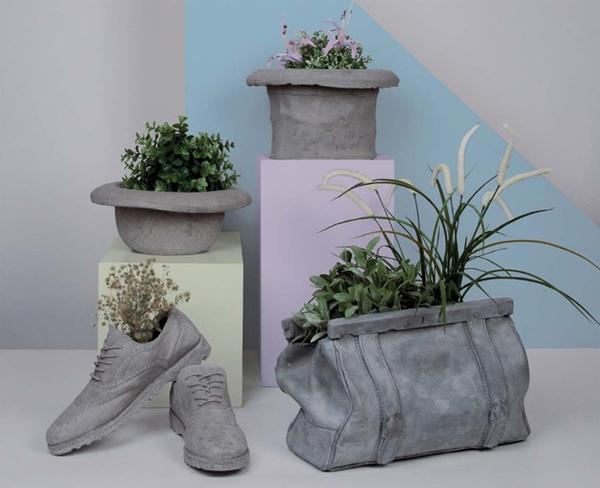 Pflanzenkübel Beton - schöne dekorative Ideen