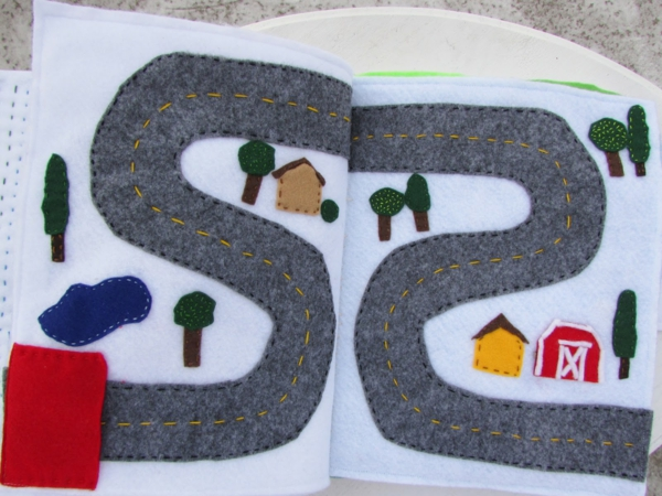 Quiet Book nähen Spielbuch stilles Buch Straße Straßenverkehr Ideen