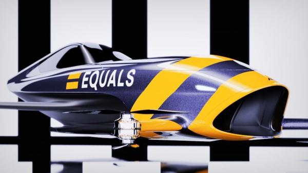 Rennen mit fliegenden Autos werden 2020 Realität alauda speeder modell in gelb und blau