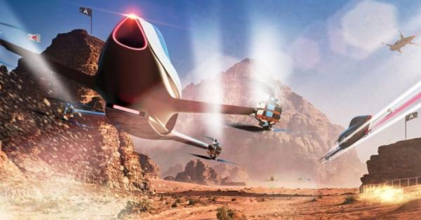 Rennen mit fliegenden Autos werden 2020 Realität sci fi videospiele speeder real