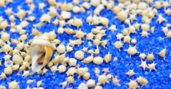 Schöne Strände weltweit Star Sandstrand in Japan viele kleine Muscheln in Sternform