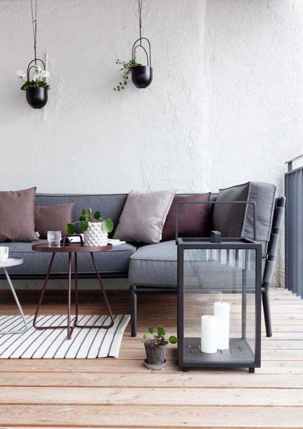Sofa - grelle Schattierungen - Balkon-Sofa