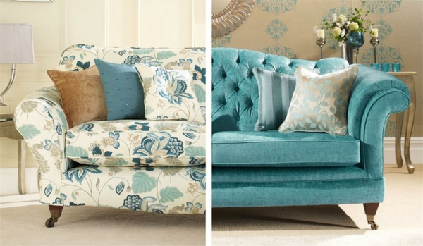 Sofa neu beziehen lassen Tipps Muster und Farben