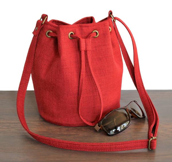 Stofftasche - rote Farbe - Damentaschen