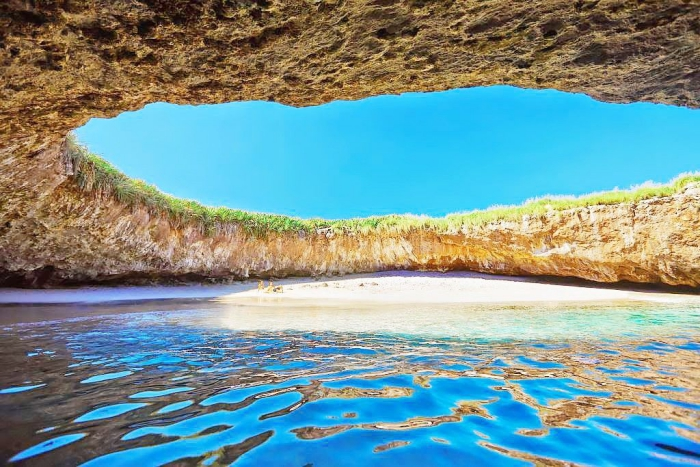 Top 5 der schönsten Strände der Welt Hidden Grotto Beach in Mexiko wahres Naturphänomen