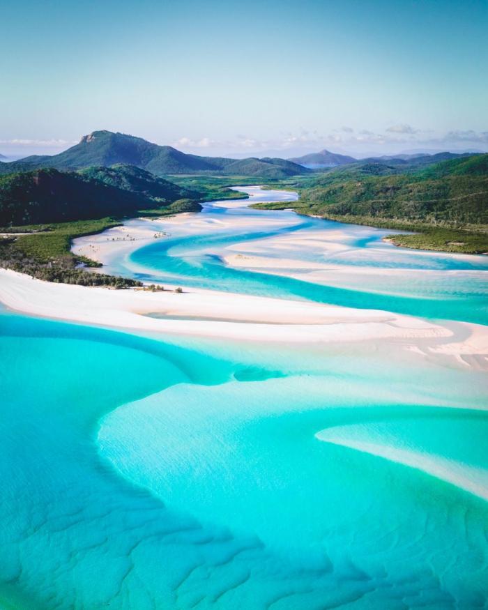Top 5 der schönsten Strände der Welt Whitehaven Beach Australien steht unter Naturschutz absolutes Traumziel