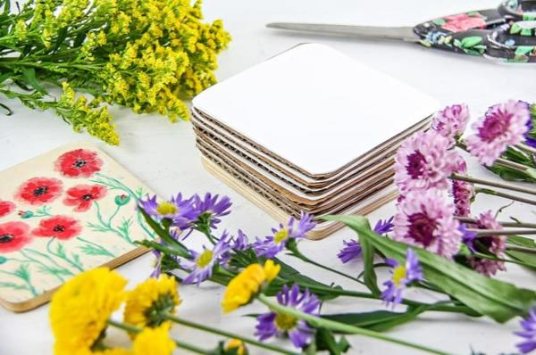 Wie kann man Blumen pressen Blumenpressen