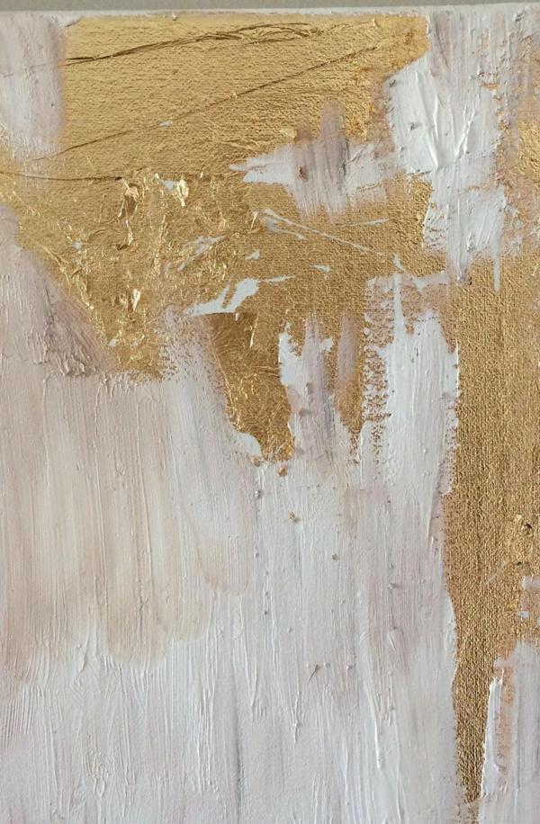 abstrakte kunst blattgold dekoideen