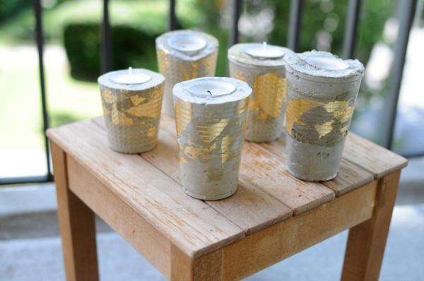 betondeko mit goldfolie selber machen