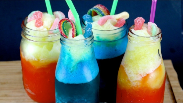 diy slush eis für kinderparty