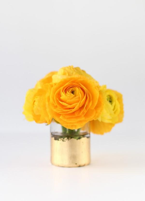 diy vase blattgold goldfolie