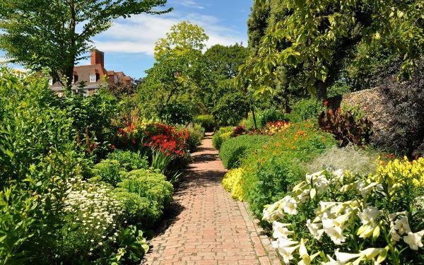 ein kleiner Weg im Garten Naturgarten anlegen