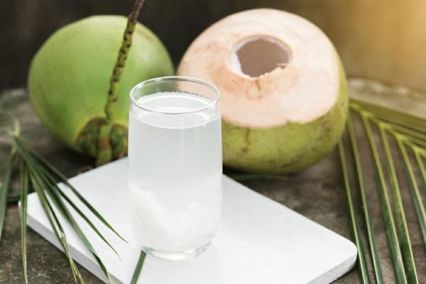 erfrischende Sommergetränke Kokosnusswasser traditionelle indische Getränke
