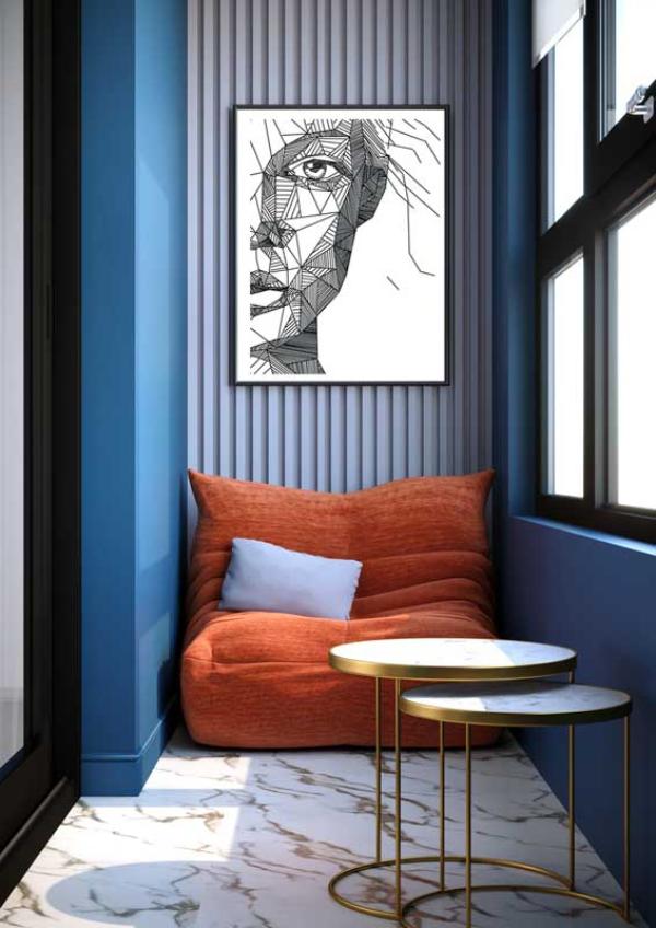 geschlossenes Balkon-Sofa - moderne Inneneinrichtung