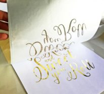 DIY Dekoideen mit Goldfolie und Blattgold – zwei einfache Techniken und viele Beispiele