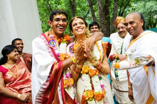 indische Hochzeit Hochzeitszeremonie Feier