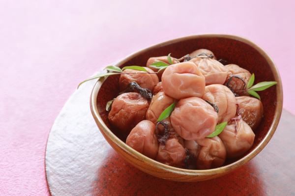 Sour Japanese plum (umeboshi).